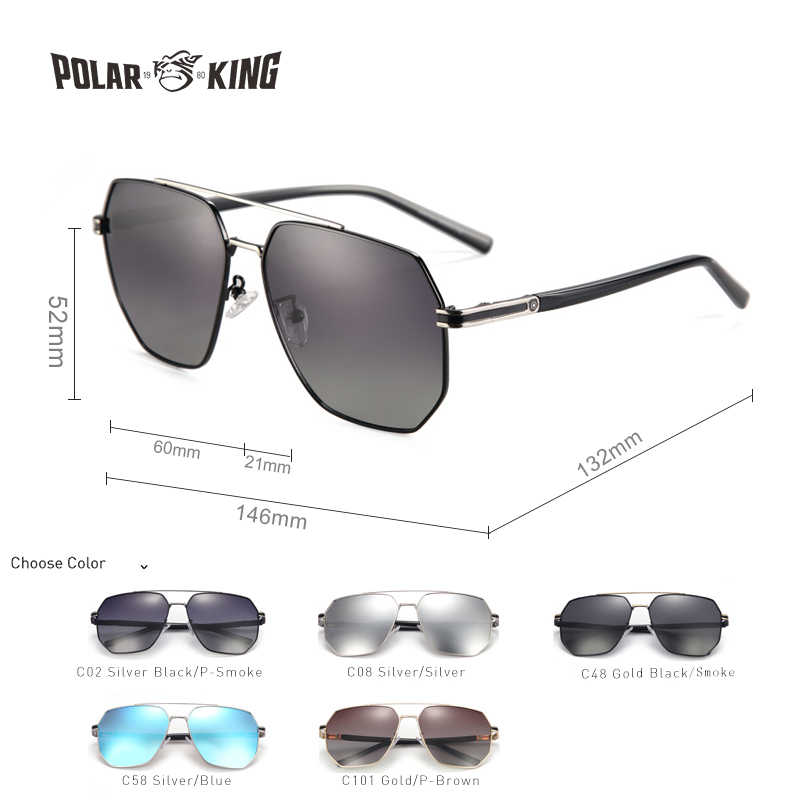 c753dcfcf7a4 ... POLARKING Brand Fashion Gradient Polarized Sunglasses For Men Shades  Men's Metal Sun Glasses Traveling Fishing Eyewear ...