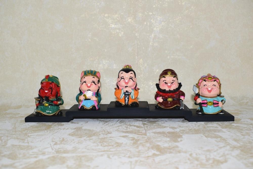 Kalender Energisch 5 Teile/satz Romantik Der Drei Königreiche Ornament Figuren Puppen Dekoration Wohnkultur Spielzeug Kleine Dekorative Artikel Auto Broschen