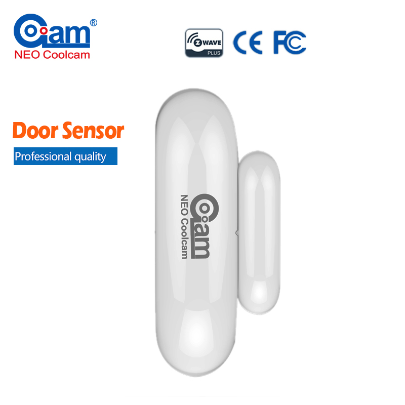 NEO Coolcam NAS-DS01Z Smart Home Z-Wave Plus Door Window Sensor Compatible with Z-wave Magnet Lock Door Sensor Alarm System Home neo coolcam nas pd02z new z wave pir motion sensor detector home automation alarm system motion alarm system eu us version