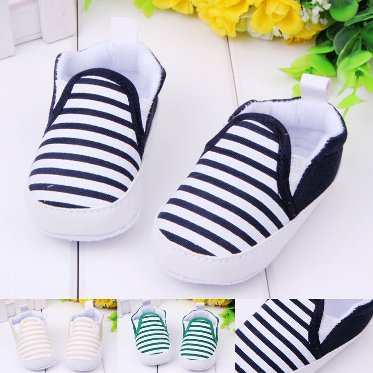 Spring Summer Baby Girl Shoes Kids Toddler Baby Unisex Boys Girls Striped Anti-Slip Sneakers Soft Bottom Shoes