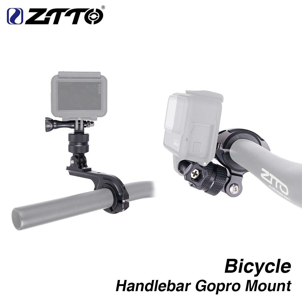 ZTTO 360 Bicycle Handlebar Rotatable Gopro Mount High-Strength cycling Camera Holder adapter for helmet yi virb MTB Road bike