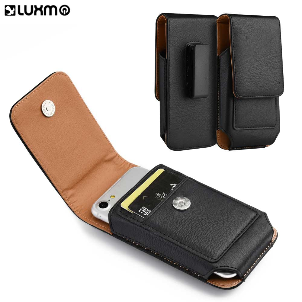 Galleria fotografica Luxmo Belt Cover For Iphone 6 S Universal Pouch Phone Bags Leather Wallet Case 4.7/5.0 Inch Bag Holster For Smartphone Limited