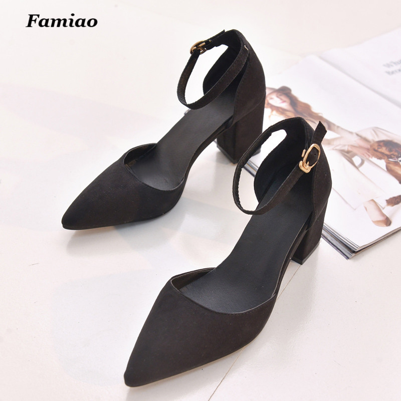 Women Sandals 2016 New High Heels Ladies Pumps Sexy Thick Heels Footwear Woman Shoes zapatillas mujer sapato feminino chaussure