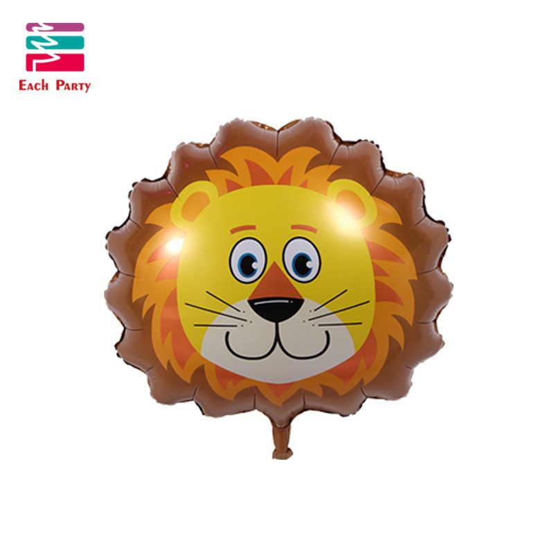 O grande Leão macaco Encantador Dos Desenhos Animados balões Folha Crianças dos desenhos animados da Forma animal do balão Decorações Da Festa de Aniversário Do Bebê brinquedos bolas