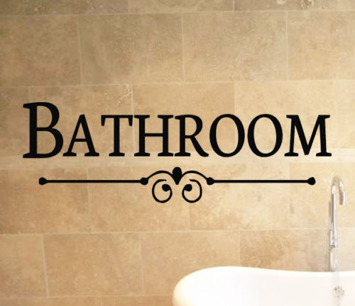 Bathroom Sign Bath Quote Wall Art Stickers Decals Vinyl Decor Room Home