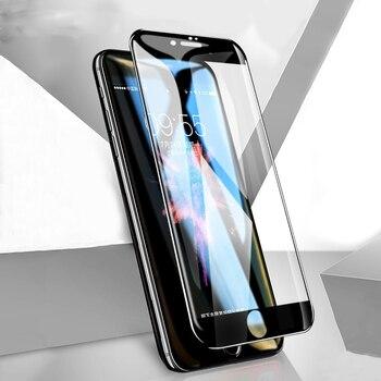 e761e747bff WIT @ WITACE vidrio para iPhone 7 Plus Protector de pantalla templado Anti  rotura 5D borde curvado para iPhone 8 7 6 6 S Plus X vidrio