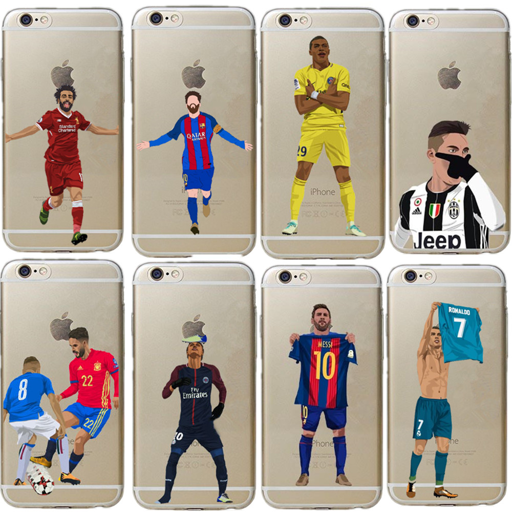 Neymar Cristiano Ronaldo CR7 Griezmann Football Jersey Cases for iphone 6 6S 7 8 Plus 5S 5 SE X XR XS Max Hard PC Case Cover iphone