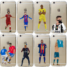 Phone Case Messi Neymar Cristiano Ronaldo Barcelona Football Jersey for iphone 6 6S 7 8 Plus
