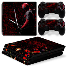 Unique Vinyl Decal Adesivo Skin para Play Station 4 PS4 Pro Console + 2 Controlador de Pele TN-P4Pro-0031 Deadpool