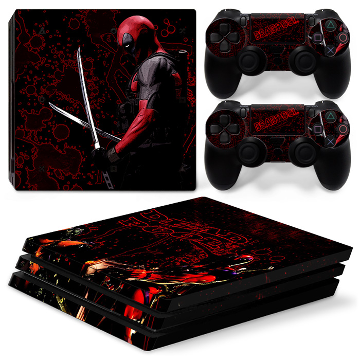 Unique Vinyl Decal Skin Sticker for Play Station 4 PS4 Pro Console + 2 Controller Skin Deadpool TN-P4Pro-0031