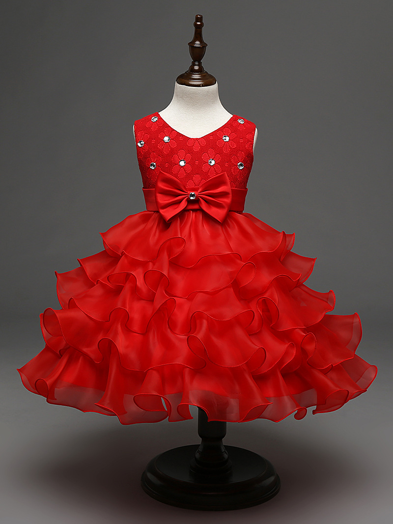 Fashion rhinestone infant childrens wedding party wear layers red fashion rhinestone infant childrens wedding party wear layers red white royal blue kids cupcake pageant dress in dresses from mother kids on ombrellifo Gallery