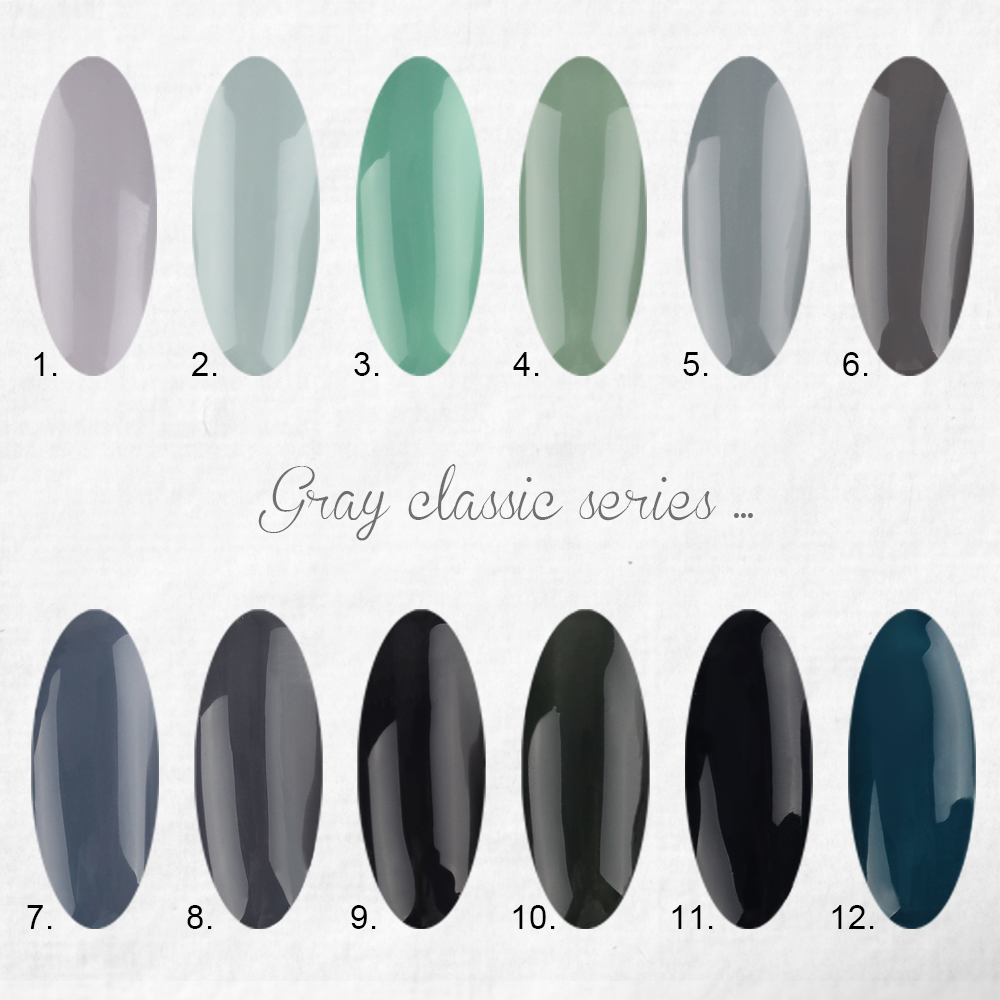 Candy Lover Grey neutral UV Gel Nail Polish 12 colors Long Lasting ...