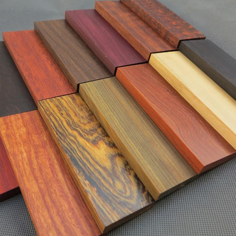 1 Pc Diy Messer Griff Rohlinge Holz Pistol Grip Messer Griff Der Material 120x40x10mm Extrem Effizient In Der WäRmeerhaltung