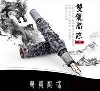 Jinhao Восточный Дракон авторучка Роскошный подарок ручка 0,7 мм Металлические ручки чернил офиса Бесплатная доставка