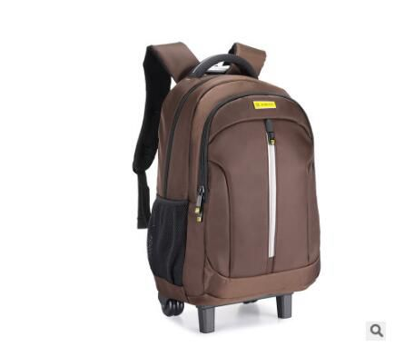 цена Men travel luggage trolley Backpacks on wheels Luggage Trolley Bags women Business Mochilas on wheels Rolling Backpacks Bags