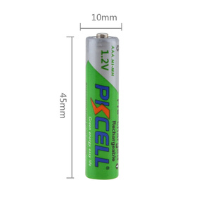 Image 2 - 4Pcs/PKCELL AAA Battery Ni MH 850mAh 1.2V AAA Batteries 3A Rechargeable Battery Baterias Bateria