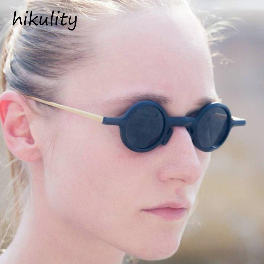 Lindas gafas de sol redondas pequeñas mujeres 2018 marca diseñador Vintage negro señoras gafas de sol para hombres gafas de sol únicas Lunette Mujer