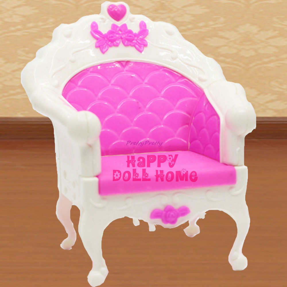 One Pcs Plastic Fashion Style Chair Princess Doll Sofa