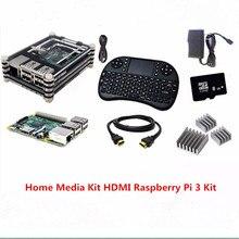 Best Buy Raspberry Pi 3 Model B Board +i8 Mini 2.4G Wireless Mini Keyboard+8GB SD Card+Case+Heat Sink + Power Supply 2.5a+HDMI Cable