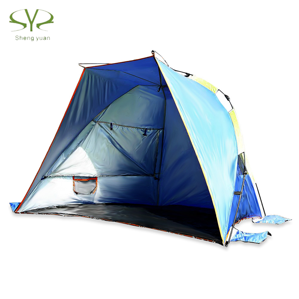 SHENGYUAN Outdoor Water Resistant Automatic Instant Setup 3 - 4 Person Beach Fishing Tent shengyuan outdoor water resistant automatic instant setup two doors 3 4 person camping tent with canopy