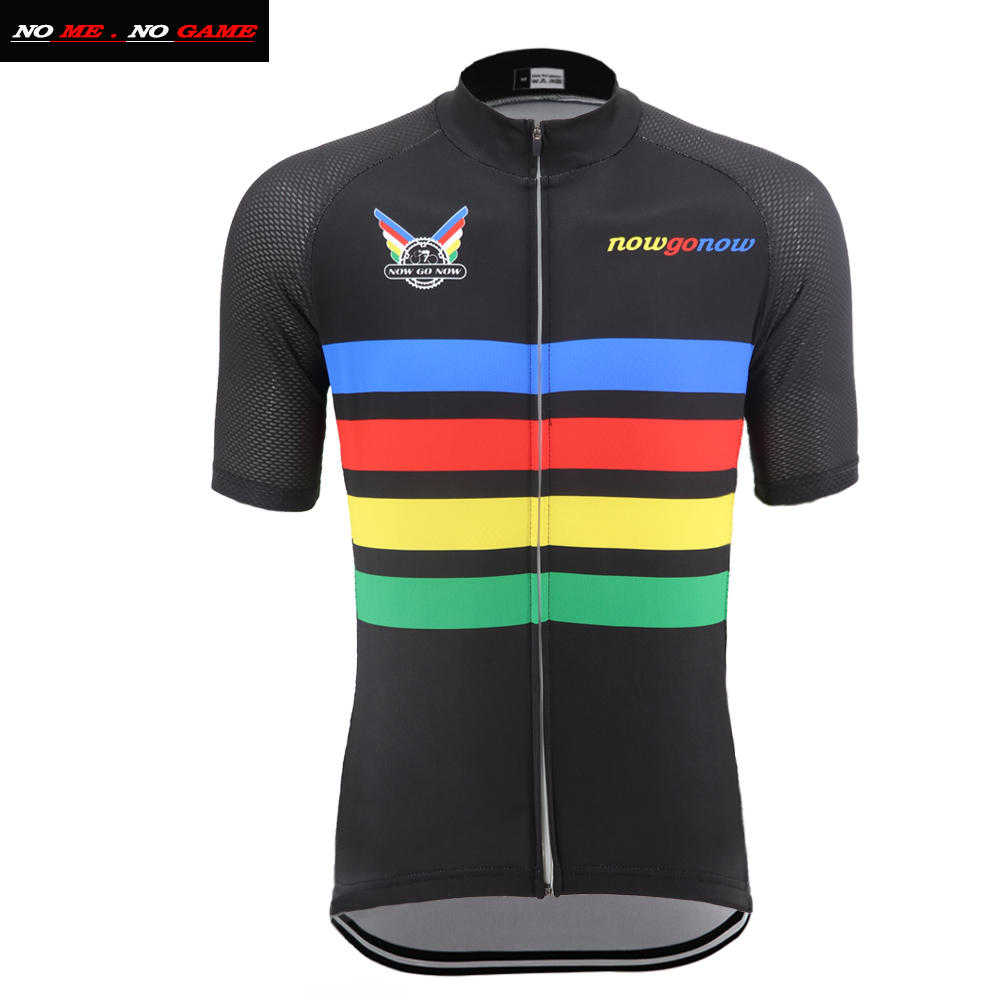 Team Bike Jersey Men MTB Road Cycling Jersey Breathable Mountain Cycle Shirt