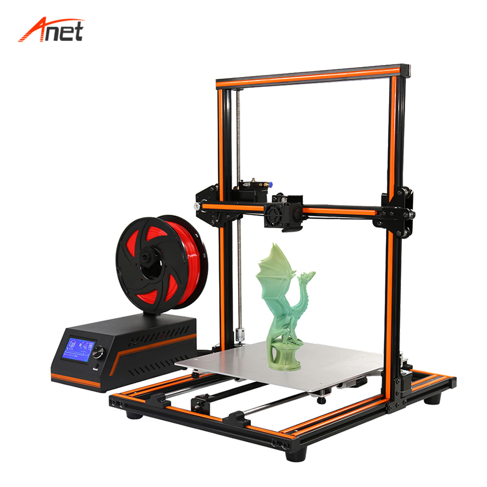Anet E12 Easy Assembly 3D Printer Aluminium Alloy Frame Large Size 30 X 30 X 40CM 3D Printer DIY Kit 3D Printing Machine oem 30 x 30 diy 30x30cm