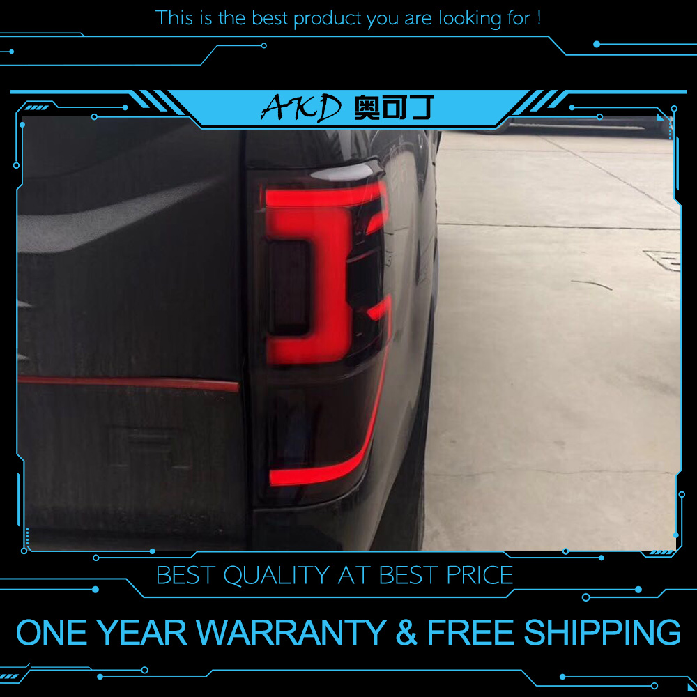 US $288 0 10% OFF|AKD tuning cars Tail lights For Ford Ranger 2016 2018  Taillights LED DRL Running lights Fog lights angel eyes Rear parking  light-in