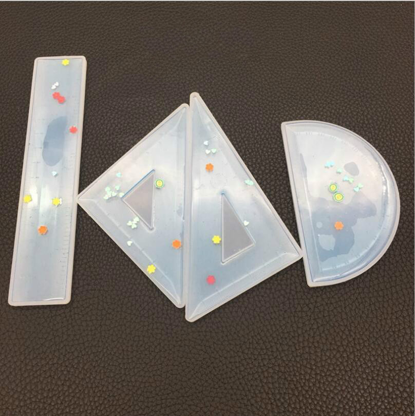 Protractor Triangle Ruler Right Angle Expoxy Resin Jewelry Mold DIY Craft Jewelry Making Tools UV Glue Jewelry Decorative Molds