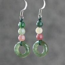 Aventurine jade earrings national wind personality vintage earring fashion vintage earrings for women