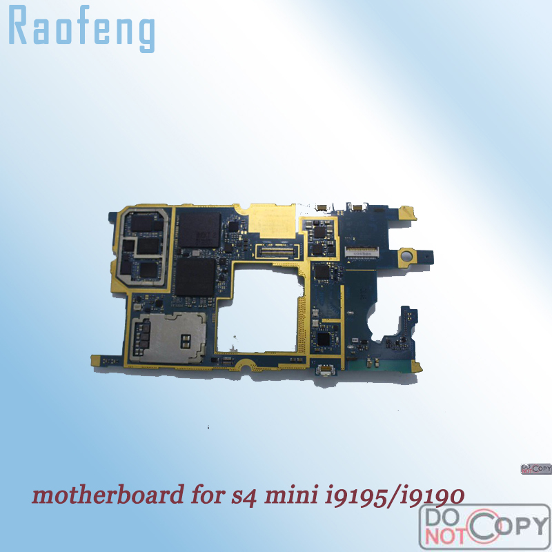 Raofeng Unlocked for Samsung galaxy S4 mini i9195/i9190 motherboard 8gb whole function mainboard with full chip Logic Board(China)