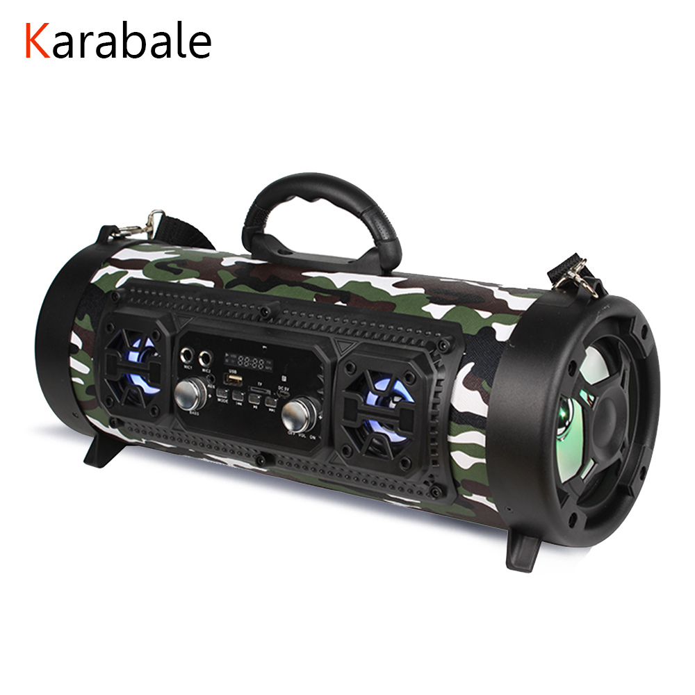 20W Big Power Bluetooth Speaker Wireless Stereo Subwoofer Heavy Bass Speakers Music Player Support KTV LCD Display FM Radio TF