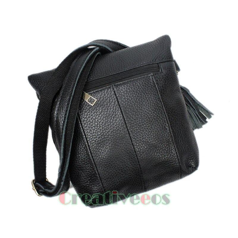 Новые женские Модные плеча сумку из натуральной кожи Винтаж Crossbody Flap молнии Повседневное Чехол кошелек