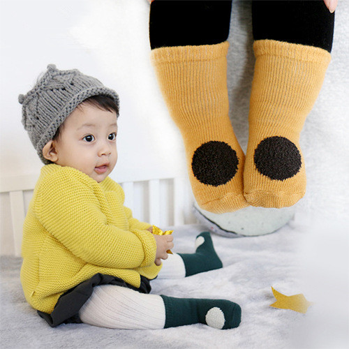 2017 Cute Circle baby socks boys girls winter sock meia infant todder sport socks kids cotton sock childrens accessory meias
