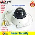 IPC-HDBW4421R-AS 4MP Câmera Dahua IR HD 1080 p IP IR Dome CCTV Camera Apoio POE câmera de Segurança de rede firmware Inglês