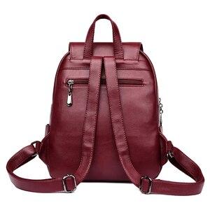 Image 3 - Fashion2018  Women Backpacks Womens Leather Backpacks Female school backpack women Shoulder bags for teenage girls Travel Back