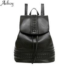 Aelicy 2019 bolso de hombro de mujer de moda Mochila De Cuero mochila de viaje para niñas mochilas escolares bolso de teléfono móvil para niños