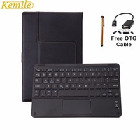 Kemile Universal 8 8 9 Tablet Removable Wireless Bluetooth 3 0 Keyboard With Touch Pad For