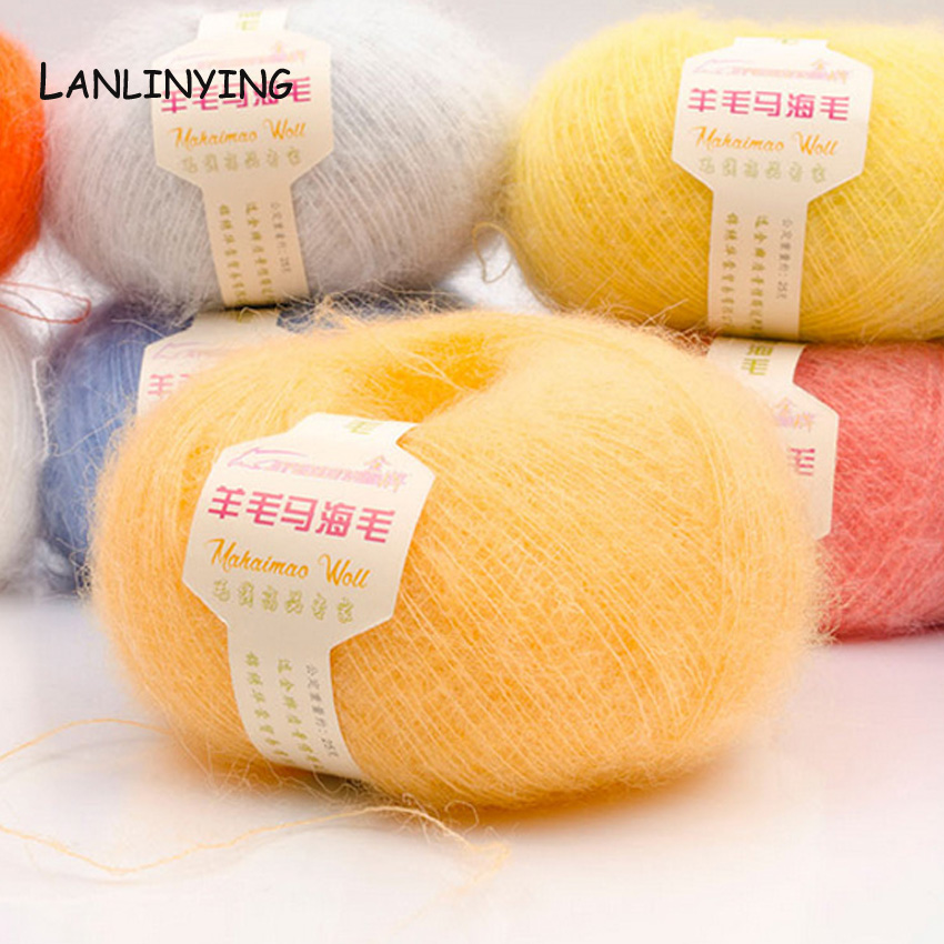 Knitting Warehouse Location : Aliexpress buy g yarn for knitting mohair wool