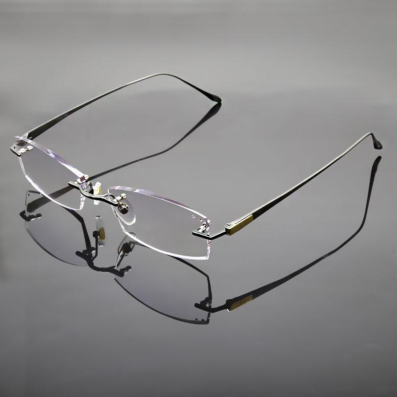 Reven Jate სათვალეები Rimless Eyeglasses Titanium - ტანსაცმლის აქსესუარები - ფოტო 2