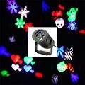 Водонепроницаемый Перемещение Снег Лазерный Проектор Лампы Снежинка LED Свет Этапа На Рождество Партии Пейзаж Свет Лампы Сад Открытый