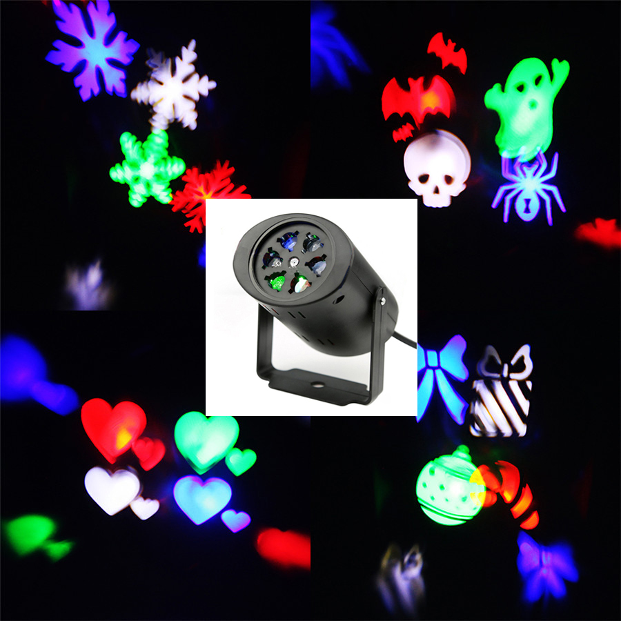 waterproof moving snow laser projector lamps snowflake led. Black Bedroom Furniture Sets. Home Design Ideas