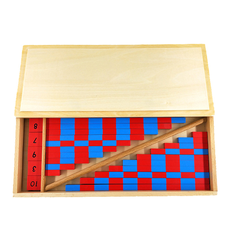 Baby Toy Small Numerical Rods Montessori Mathematics 1-25CM Red & Blue Rods Math Toy Learning & Education Classic Wood Kids Toys
