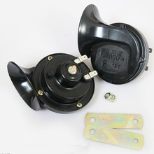 Free Shipping 12V Motorcycle Snail Horns High and Low Tune Waterproof Motorbike Scooter Beeper Loudspeaker 1 Pair