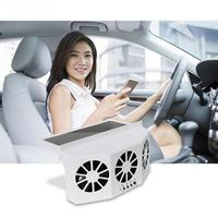 1Pc Solar Powered Car Cooler Vehicle Exhaust Fan Ventilation Radiator Auto Air Vent Car Fan Cooling System Cooler Window