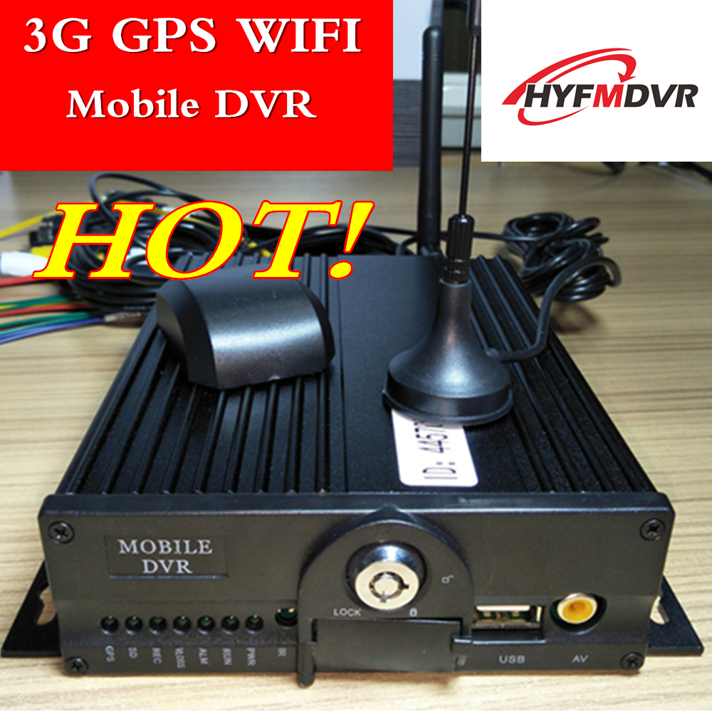 Wholesale GPS WIFI remote positioning monitoring host 3g 4ch dual SD truck mobile dvr h.264 wide voltage mdvr