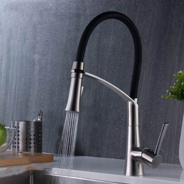 Stainless Steel Kitchen Faucet With Pull Down Spray Vintage Formica Table Aliexpress Com Buy Best Single Handle Two Functions Sprayer Out