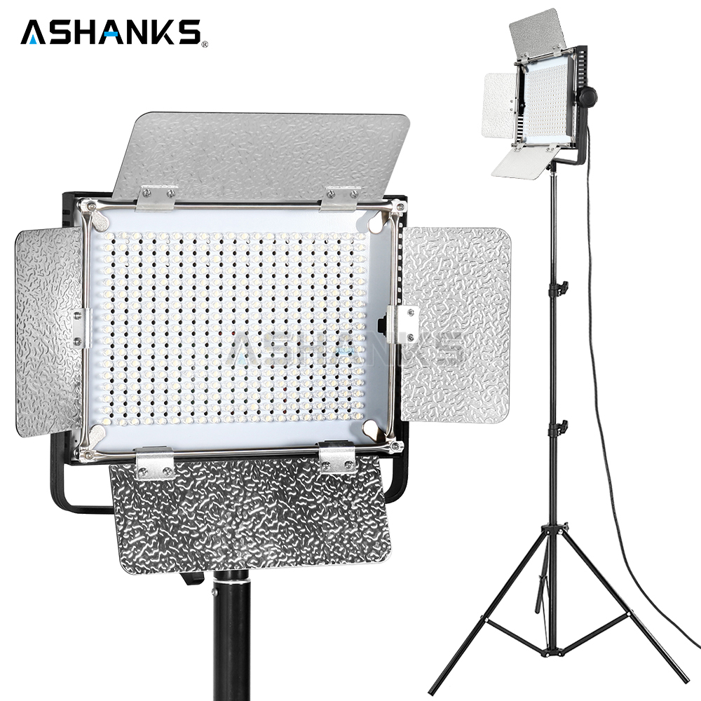 ASHANKS 40W LED Pad Panel Light with Light Stand Photography Dimmable 3200K/5500 Continuous Bulbs for Camera Video Photo Studio ashanks small photography studio kit