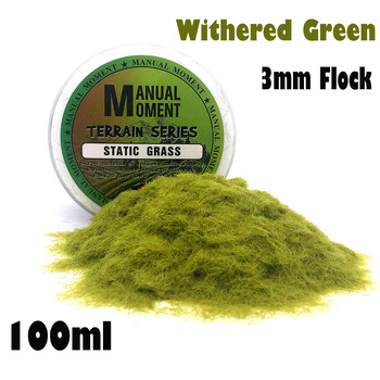 Miniature Scene Model Materia Withered Green Turf Flock Lawn Nylon Grass Powder STATIC GRASS 3MM Modeling Hobby Craft Accessory 3mm Flock Static Grass Fiber HOBBY ACCESORIES Model Number: 153