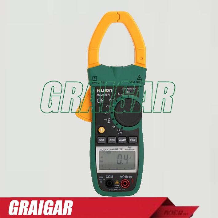 Digital AC DC Current Clamp Meter MS2138R True RMS Multimeter Voltage Capacitance Resistance Tester nc dc dc dc adjustable voltage regulator module integrated voltage meter 8a voltage stabilized power supply