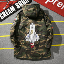 2016 Winter Hooded Camouflage Coat Men Casual Parka Military Jacket Men Plus Size 4XL Loose Rocket